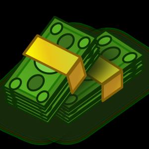 Kôpky peňazí